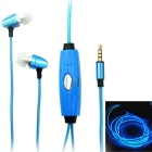 Metal Luminous Earphone w/ Microphone / Visible EL Cold Light / Twinkle with the Music Rhythm