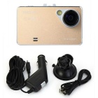"X6 Car Camcorder DVR w/ 2.7"", 5MP, FHD 1080P, HDMI, AV Output - Golden"
