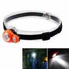 Waterproof 3-LED 3-Mode Cool White Mini Headlamp Working Lamp - Orange (1 x CR2032)