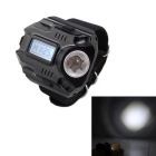 USB Charging Sport Electronic Watch w/ Two LED / Time Display - Black + Silver