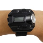USB Sports Electronic Watch w/ Two LED / Time Display - Black + Silver