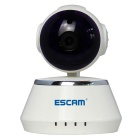 "ESCAM Secure Dog QF510 1/4"" CMOS 1MP Alarm IP Camera - White (UK Plug)"
