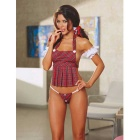 Temptation Sexy Lingerie + Underwear + 2 Armbands - Red + Multicolored