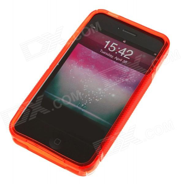 Protective Anti-Slip Case for Iphone 4 - Crystal + Red audio technica ath ls50is 15119537 внутриканальные наушники red
