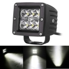 18W 1530lm 6000K 6-LED White Spot Light Square Working Lamp Bar for Car / Boat