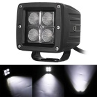 12W 1200lm 6000K 4-LED White Flood Light Working Lamp for Offroad Car (DC 10~30V)