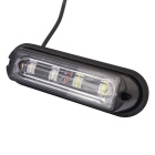 MZ 12W Blanco + Rojo 4-LED impermeable Strobe coche luz de advertencia de emergencia