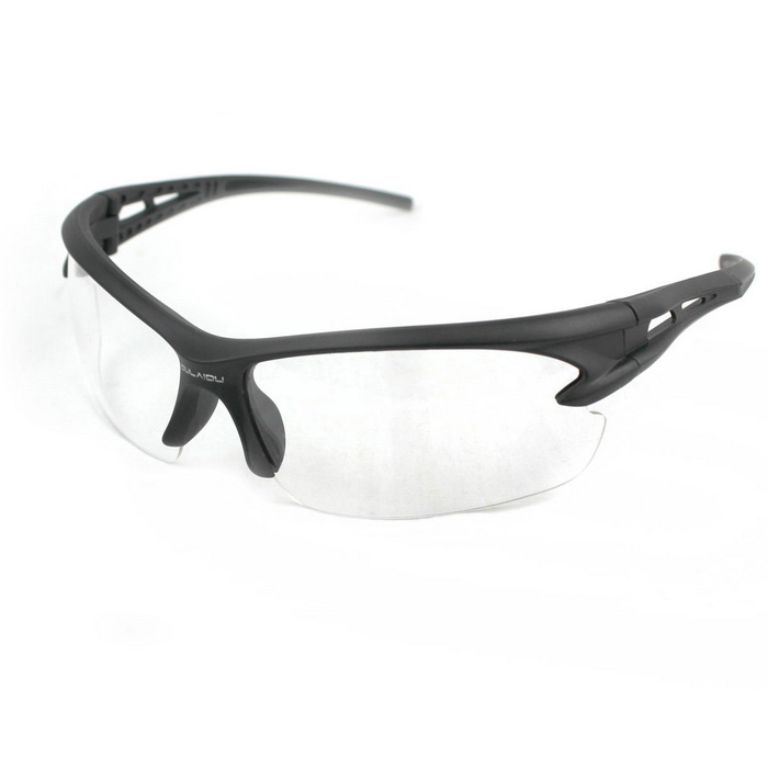 Unisex Anti-Burst UV400 Protection Sunglasses - Black + Transparent