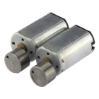 D10*12*20mm 6V 12000rpm 0.02A N30 Motor - Silvery Gray (2PCS)