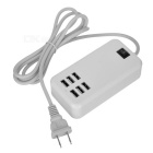 5V 6A 6-Port USB Desktop Charger for Tablets / Phone - White (US Plugs)