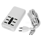 5V 8.4A 6-Port USB Smart Charger w/ Indicator Light - White (US Plugs)