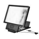 Cwxuan Universal Portable Cellphone Screen Magnifier Stand w/ Speaker - Black