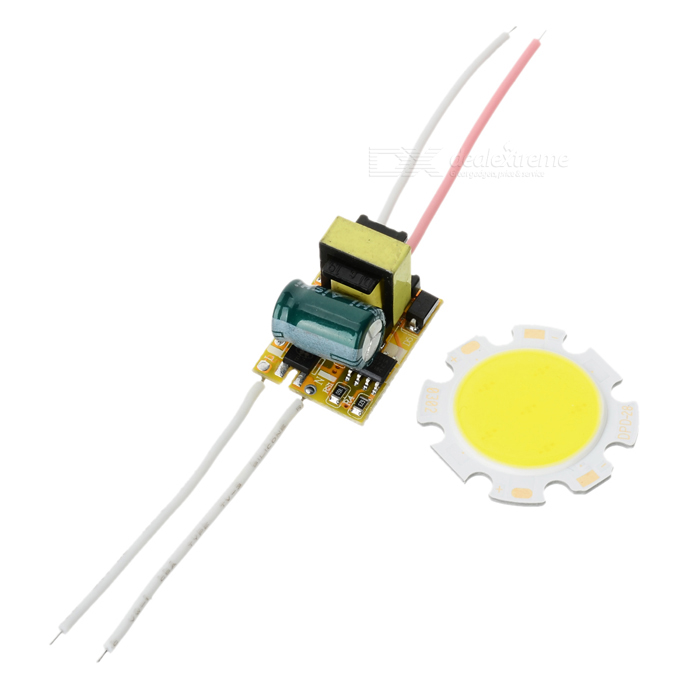 JRLED 3W LED Module Cold White 300lm 6-COB w/ LED Driver (AC 85~265V)