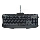 Wellrui Wasserdichte USB 2.0 Wired Gaming Keyboard w / Hintergrundbeleuchtung / Multi-Media-Key - Schwarz