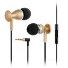 JBMMJ 3.5mm Plug Wired In-Ear Earphones w/ Mic / Remote - Black + Golden