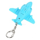 LED Fighter Aircraft Decorated Keychain - Blue