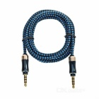 3.5mm Male to Male Car Audio AUX Cable - Blue + Black (1.45m)