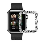 Protective Patterned Plastic Watch Case for APPLE WATCH 42mm - White + Black
