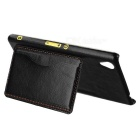 Retro Protective PU + ABS Back Case for Sony M4 Aqua - Black