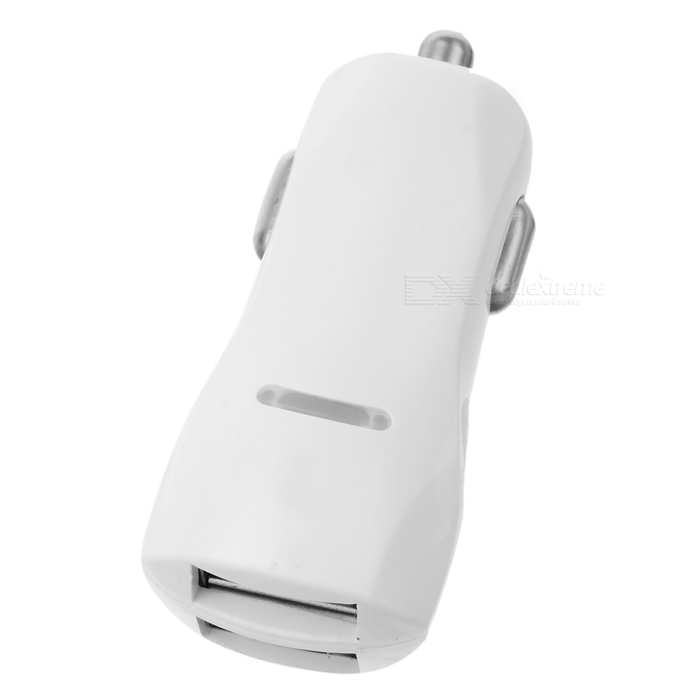 Universal 5V / 3.1A Dual-Port USB Car Charger for Cell Phone - White
