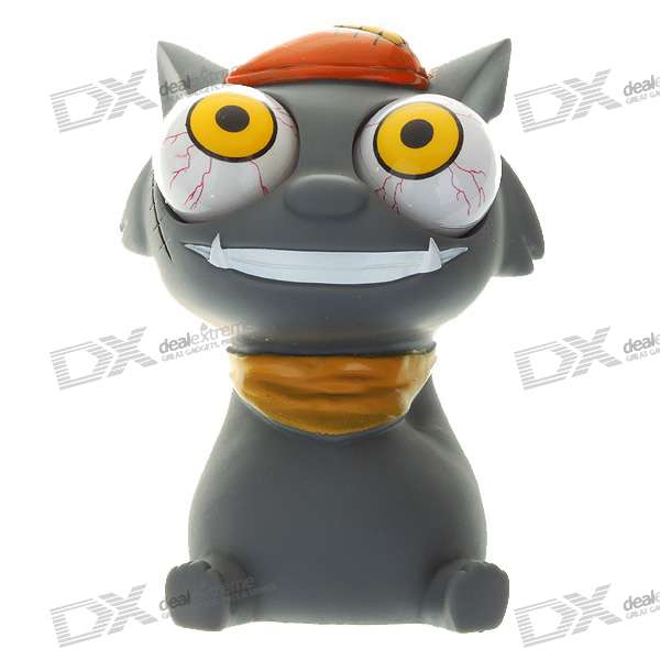 Funny Rolling Eyeballs Pop-out Silicone Stress Reliever Toy - Wolffy