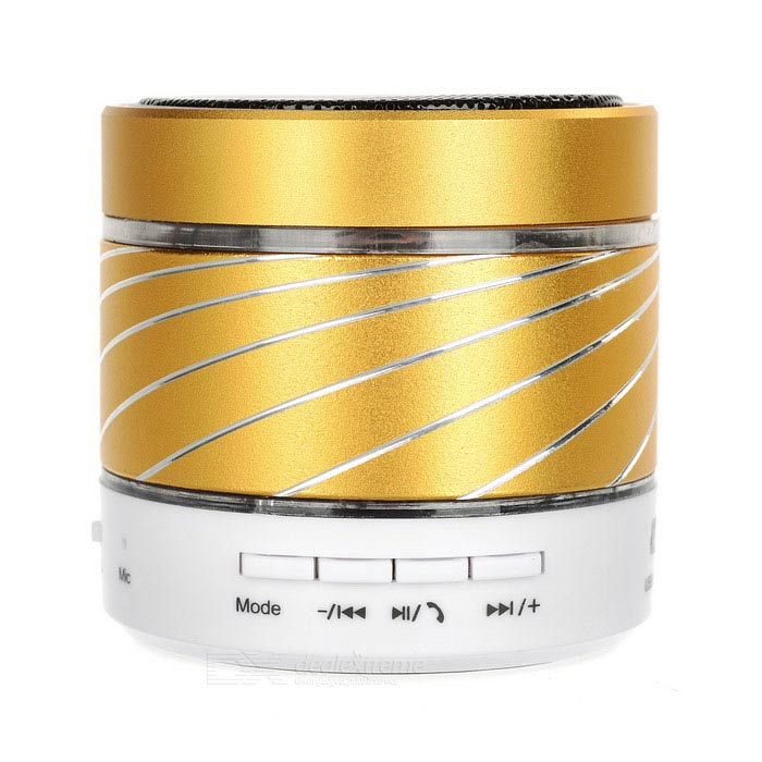 Haut-parleur Bluetooth Subwoofer coloré LED avec TF / Mic - Golden + White