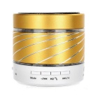LED Colorful Subwoofer Portable Wireless Bluetooth Speaker w/ TF / Mic - Golden + White