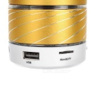 LED Colorful Subwoofer Bluetooth Speaker w/ TF / Mic - Golden + White