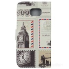 British Stamps Style Case w/ Card Slots for Samsung Note5 - Multicolor