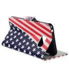 US Flag Pattern Full Body Case w/ Stand for Samsung Note5 - Red + Blue