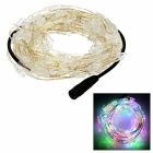 Butterfly Style LED Light String RGB 100-SMD - Silver + Transparent