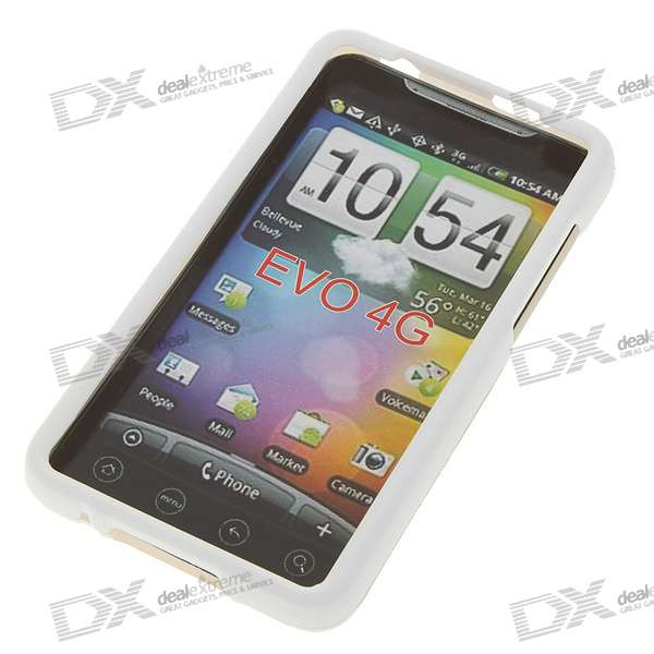 Plastic Protective Backside Case Set for HTC EVO 4G - White (2-Piece Set)