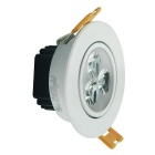 YouOkLight 3W Warm White 3-LED Ceiling Lamp w/ Driver - White (4PCS)