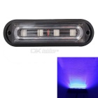 MZ 4-LED 12W Waterproof Car Truck Strobe Emergency Warning Flashing Light Blue Light (12V)