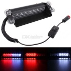 MZ 8-LED Car Strobe Flash Dash Emergency Light Warning Lamp 3-Flash Modes Adjustable White+Red Light