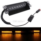 MZ 8W 8-LED Car Strobe Flash Dash Emergency Light Warning Lamp 3-Flash Modes Adjustable Yellow Light