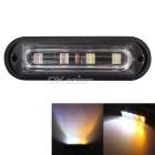 MZ 12W Waterproof Car Truck Strobe Emergency Warning Flashing Light White + Yellow Light
