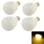 Youoklight E27 7W 3000K 14-SMD LED bulbo branco quente - branco (4PCS)