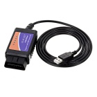 ELM327 OBD2 V2.1 diagnostische test line interface scanner - zwart