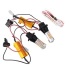 MZ Universal T20 10W Orange + Pink LED Car Front Rear Turn Signal Lamp