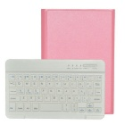 Removable Fashion Bluetooth V3.0 Keyboard Case w/ Stand for IPAD Mini - Pink