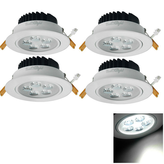 YouOkLight 4PCS 5W 420lm 5-LED White Light Ceiling Lamp w/ Driver