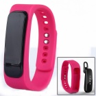 A8 Bluetooth V4.0 Smart Bracelet w/ Headset Phone / Motion Detection / Sedentary Remind - Pink