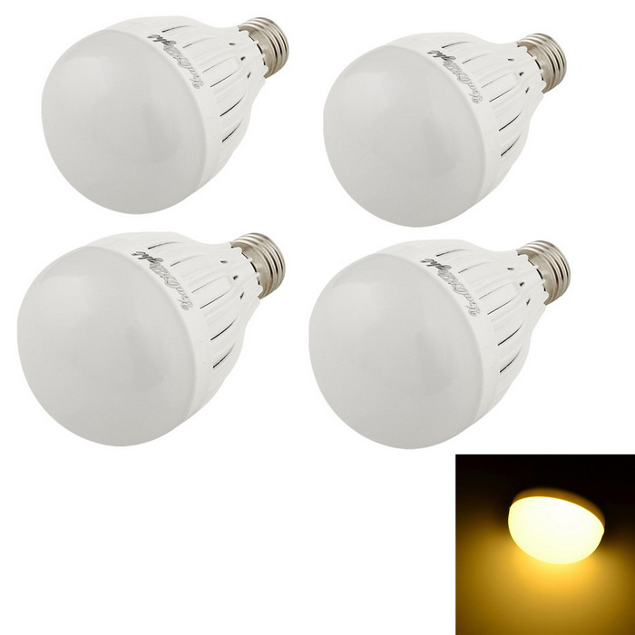 YouOKLight E27 9W 3000K 18-SMD LED Warm White Lamp Bulb - White (4PCS)