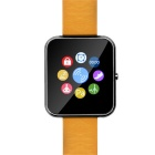 "Zeblaze Rover Toughened 1,54 ""IPS MTK2501 Bluetooth 4.0-Lederband Smart Watch - Schwarz + Orange"
