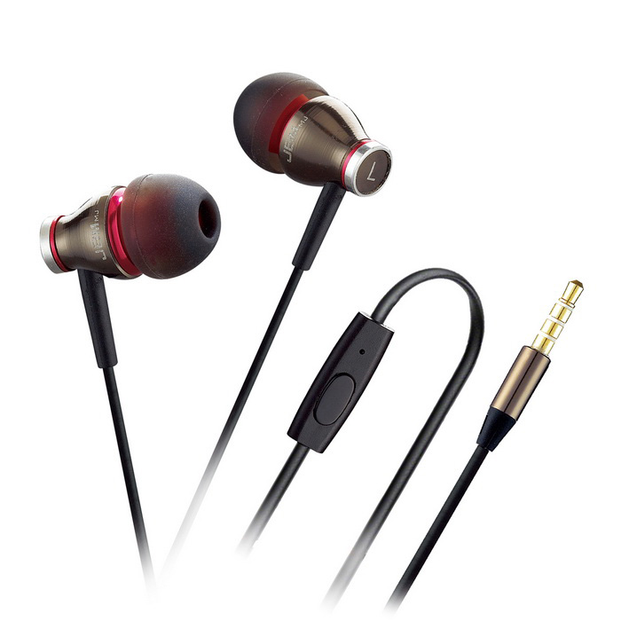 3.5mm in-ear bedrade koptelefoon w / mic. voor iPhone / samsung + more - grijs