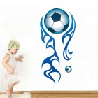 Creative Soccer Football Pattern Home Decoration PVC Wall Sticker Decal - White + Blue