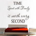 Beautiful Home Decoration Wall Stickers TV Wall Background Wallpaper TIME SECOND ZY8218B