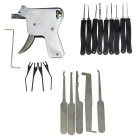 3-Piece Manual Locksmith Training Lock Open Gun Tool w/ Single 7-Piece and 5-Piece Single Hooks