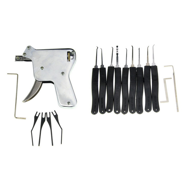 Manual Locksmith Tool Training Lock Pick Gun with Nine Compact Key